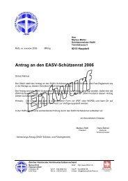 Antrag an den EASV-Schützenrat 2006 - ZKAV