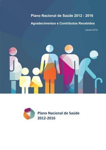 contributos e agradecimentos - Plano Nacional de Saúde 2012 – 2016