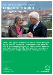 En route: Faites le plein d'oxygène liquide - Ligue pulmonaire
