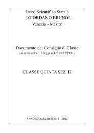 5°D Documento del Consiglio della classe a.s. 2011-2012 - Liceo ...