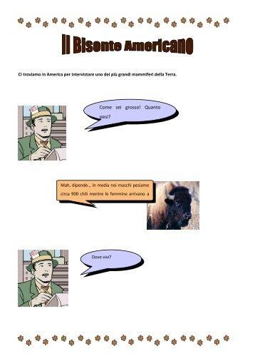 "Intervista al bisonte - I.C. ""G. Galilei"" Tradate"