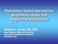 Regulatory issues and Population simulations