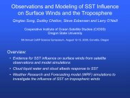Observations and Modeling of SST Influence on Surface Winds and ...