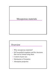 Mesoporous materials Overview
