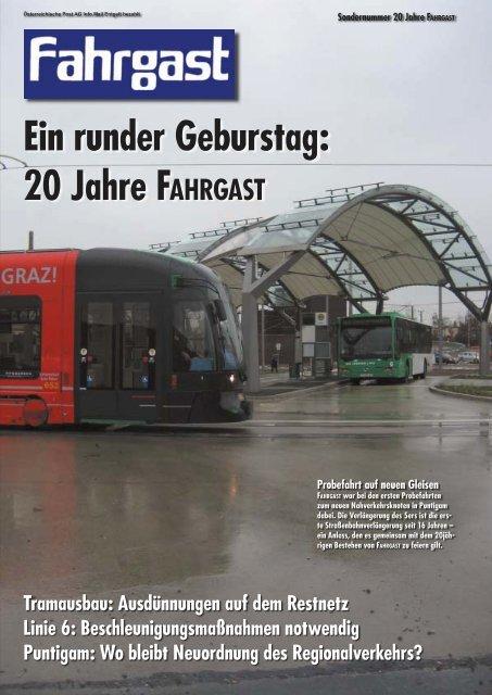 Ein runder Geburstag: 20 Jahre FAHRGAST - FAHRGAST Steiermark