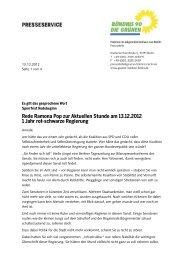 Rede Ramona Pop zur Aktuellen Stunde am 13.12.2012 1 Jahr rot ...