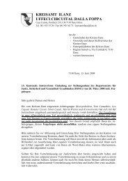 Stellungnahme Justizreform Brief - Kreis Ilanz