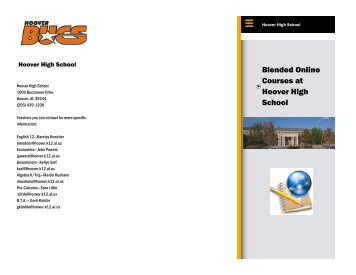 Blended Online Courses at Hoover High School - Hoover City Schools