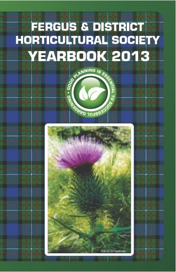 Fergus Horticultural Society Yearbook 2013 - Ontario Horticultural ...