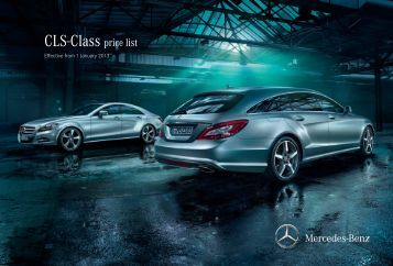 Download cls class catalogue pdf mercedes benz brunei for Mercedes benz prices list