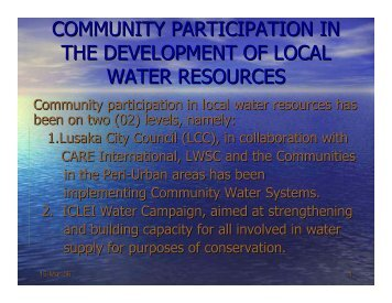 LUANGA Water governance in Zambia [.pdf] - ICLEI World Congress ...