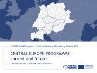 CENTRAL EUROPE PROGRAMME - Secondchanceproject.eu