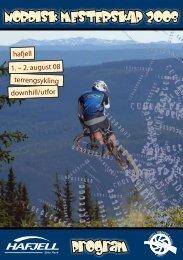 NORDISK MESTERSKAP 2008 Program - Hafjell Alpinsenter