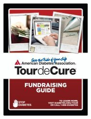 FUNDRAISING GUIDE - American Diabetes Association