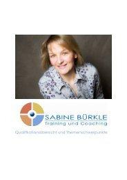 Profil Sabine Bürkle - WeiterbildungsProfis