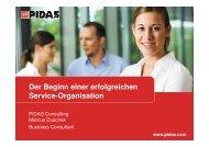 Der Beginn einer erfolgreichen Service-Organisation - PIDAS