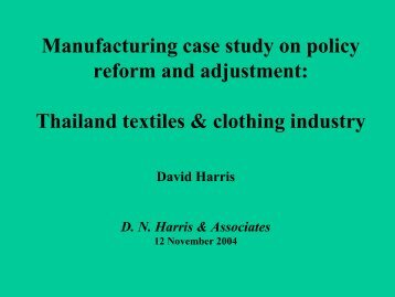 Thailand textiles & clothing industry