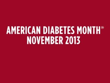 the scope of diabetes - American Diabetes Association