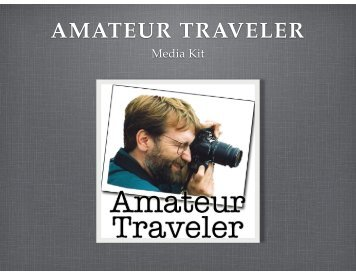 Amateur Traveler Media Kit 2014