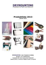 Produktliste 2013 - Dry Mounting GmbH