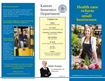 Health care reform and small businesses - Kansas Insurance ...