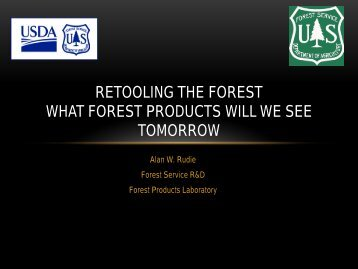 Retooling the Forest What Forest Products will We See Tomorrow