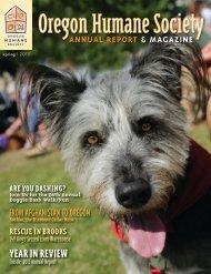 Spring 2013 - Oregon Humane Society