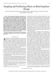 Sampling and prefiltering effects on blind equalizer ... - ETIS - Ensea