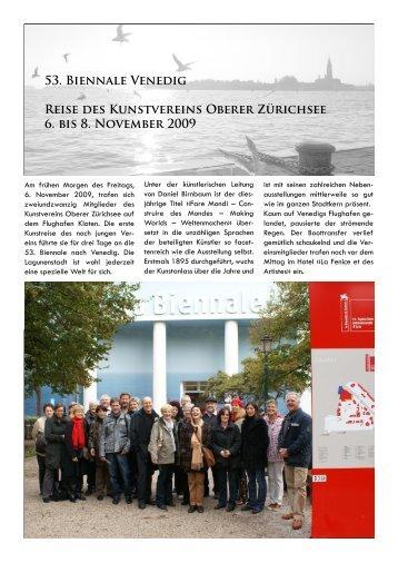 Reisebericht (PDF) - Kunstverein Oberer Zürichsee
