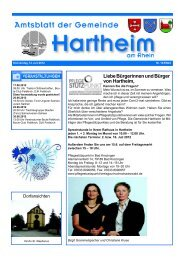 Liebe Bürgerinnen und Bürger von Hartheim, - Gemeinde Hartheim
