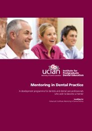 Mentoring in Dental Practice - North Western Deanery