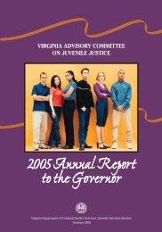 2005 Annual Report - Virginia Department of Criminal Justice Services