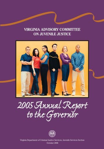 2005 Annual Report - Virginia Department of Criminal Justice Services