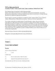 Ohjeet ja mittauspöytäkirjat. - Tekniikan yksikkö - Oamk