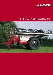 LEEB GS 6000 Feldspritze - Leeb-Mechanik