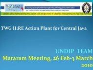 UNDIP TEAM Mataram Meeting, 26 Feb-3 March 2010 - Casindo