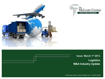 Logistics M&A Industry Update - The McLean Group