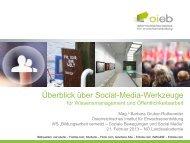 Social Media - Österreichisches Institut für Erwachsenenbildung