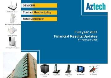 1404 KB - Aztech Group Ltd - Investor Relations
