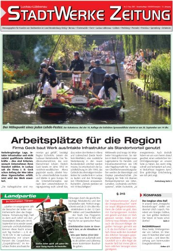 Ausgabe 03/2007 - Stadt- und Ãœberlandwerke GmbH Luckau ...