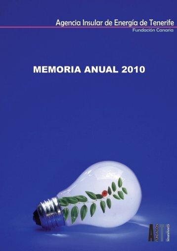 Memoria Actividades AIET 2010 - Agencia Insular de Energía de ...
