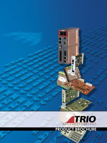 product brochure 2009.indd - Trio Motion Technology