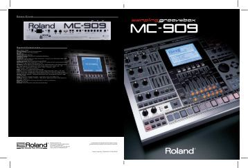 Rear View Specifications - Roland