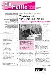 Vereinbarkeit von Beruf und Familie - Landschaftsverband Rheinland