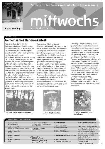 Handwerker Braunschweig kultur kalender freie waldorfschule braunschweig e v