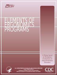 Elements of Ergonomics Programs - Centers for Disease Control ...