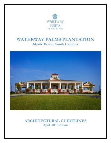 waterway palms plantation architectural review - charette | architects
