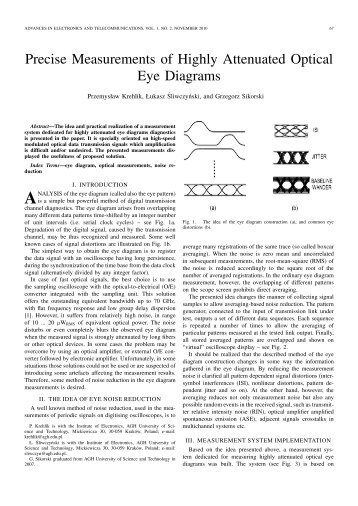 Precise Measurements of Highly Attenuated Optical Eye Diagrams