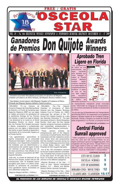 Premios El Star Osceola Newspaper Ganadores Awards Winners De clF1KJ