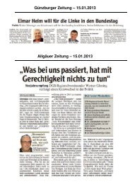 Günzburger Zeitung – 15.01.2013 Allgäuer ... - EVG OV Kempten